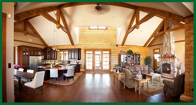 Open Concept Log Homes Images