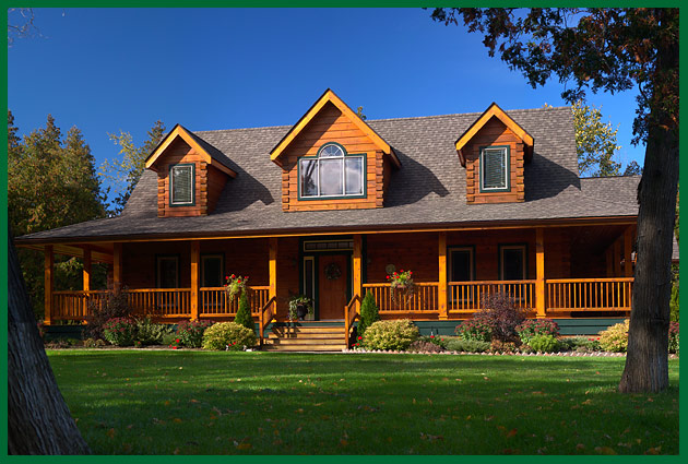 Large homes joy studio design gallery best design for Colonial log homes